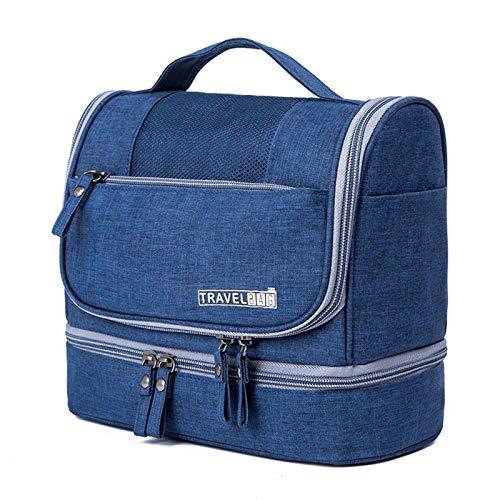 Sebasti Bolsa de almacenamiento para cosméticos de viaje, impermeable y resistente al moho, con gran capacidad, bolsa de lavado con gancho. Material: poliéster., marine (Azul) - KDNKBF1ZK8