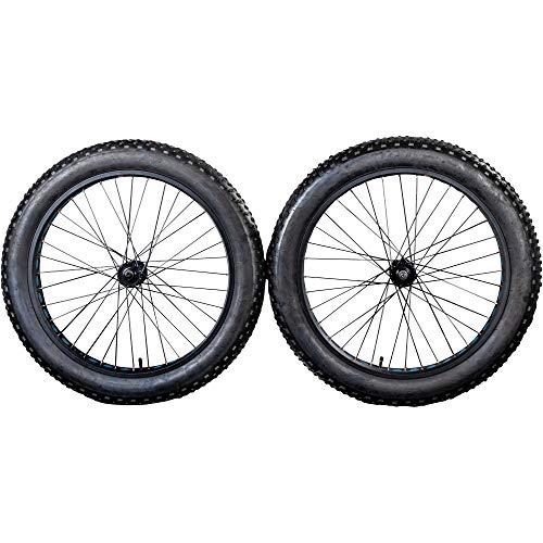 """Galano Laufrad Fatbike 26 Zoll Fatman 4.0 Komplettrad Set MTB Stollenprofil Fatty Fat Tyre 4"""" (blau, hinten)"""