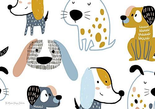 Blechposter mit starkem positivem Denken, motivierend, inspirierend, A4, A3, A2 – Hundeposter zum Lächeln A4