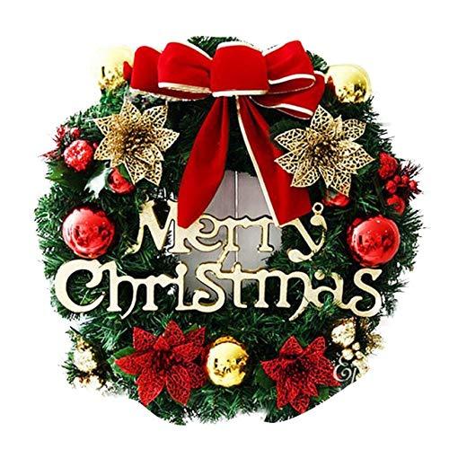 US Warehouse - Pendant & Drop Ornaments - Garland Arrangement Christmas Ornament Christmas Wreath Decorative Wreath 30CM - (Color: C)