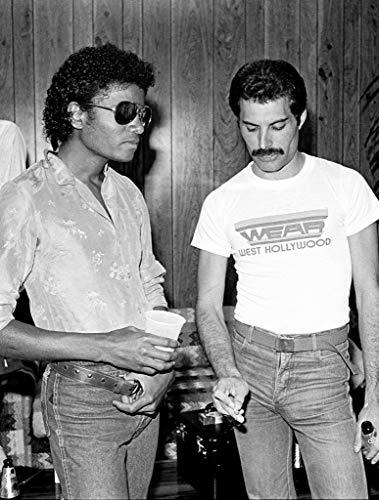 Tainsi Freddie Mercury & Michael Jackson-Poster,12x18inches,30x46cm