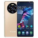 Smartphones Desbloqueados, Mate40 Pro 5.45'' Celulares Desbloqueados con Huella Dactilar, Teléfono Movil Libres Baratos 3G, 1GB RAM + 8GB ROM, 2MP + 5MP, Desbloqueo Facial, Batería 2200mAh(Oro)