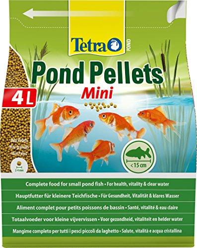 Tetra Pond Pellets Mini – Hauptfutter für alle Teichfische, schwimmfähige Futter Pellets für die tägliche Fütterung, verschiedene Sorten