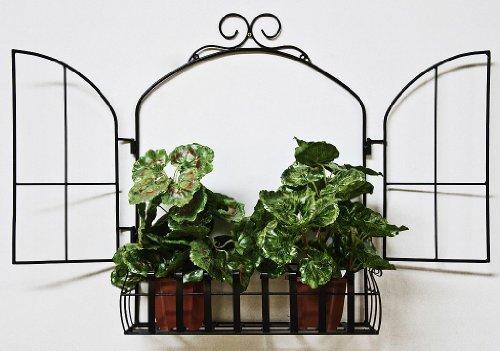 DanDiBo Wandblumenhalter Fenster Blumenständer aus Metall Wandregal Blumenregal Regal