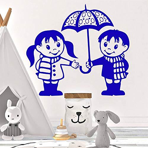 yaofale Fashion Umbrella Selbstklebende Vinyl wasserdichte Wandkunst Aufkleber Wohnzimmer Schlafzimmer Aufkleber