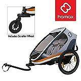 Hamax Outback Multi-Sport Child Bike Trailer + Stroller (Jogger Wheel Sold Separately) (Two Seats,...