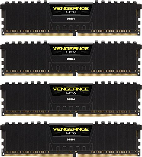 Corsair Vengeance LPX 16GB (4x4GB) DDR4 3200MHz C16 XMP 2.0 High Performance Desktop Arbeitsspeicher Kit, schwarz