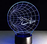 Luz de noche Lámpara de ilusión 3D Decoración Lámpara de mesa Lavadora Tiempo Transparente Acrílico Luz de noche Led Fairy Tale Color Touch Bulb