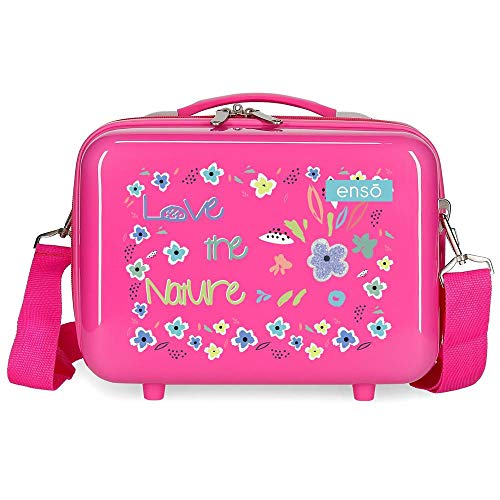 Enso Love The Nature Neceser Adaptable Rosa 29x21x15 cms Rígida ABS 9,14L