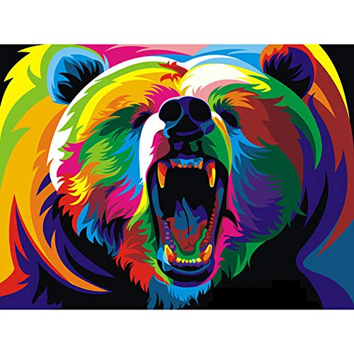 TheBigThumb 5D Diamond Painting Kits DIY Round Full Drill Art Colourful Animals 5D DIY Full Drill Diamond Painting Rhinestone Kit (ZQF916)