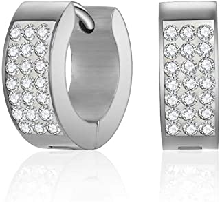 Mestige Rosie Cuff Women's Hoop Earrings with Swarovski Crystals - MSER3244