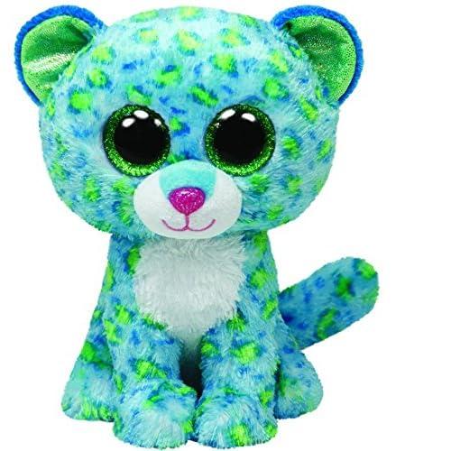 60e7865ff2e Ty Beanie Boos Leona Blue Leopard Regular Plush