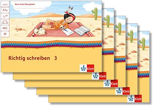 Richtig schreiben 3: Übungsheft Paket (VE 5) Klasse 3 (Mein Anoki-Übungsheft)
