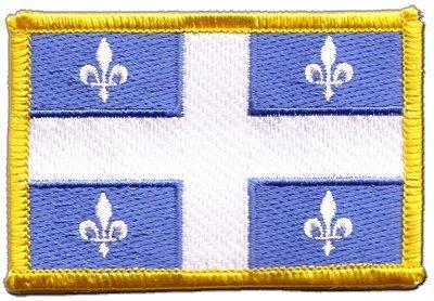 Aufnäher Patch Flagge Kanada Quebec - 8 x 6 cm