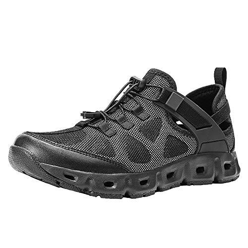 Zapatos de Agua Hombre Calzado de Natación Secado Rápido para Buceo Snorkel Surf Piscina Playa Deportes Acuáticos,Negro,42