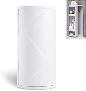 bretoes Multifunction Bathroom Kitchen Corner Locker Cosmetic Storage Rack Cabinet Storage Shelf Rotating Triangle Shelf