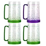 Black Duck Brand Double Wall Gel Freezer Mug (Multiple Colors Available) (Set of 4)