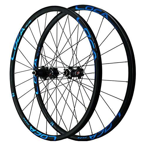 ZCXBHD 26/27.5/29 Inch Wheelset Mountain Bike Wheels MTB Aluminum Alloy Rim Hub Disc Brake Quick Release 24H 12 Speed Small Spline (Color : Blue, Size : 29in)