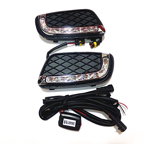 July King LED Tagfahrlicht DRL-S-Fortwo-2008 für Fortwo 2008-2011, 6000 K LED Front Bumper DRL