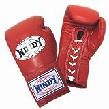 WINDY ボクシンググローブ(ひも式) 本革製 12オンス レッド