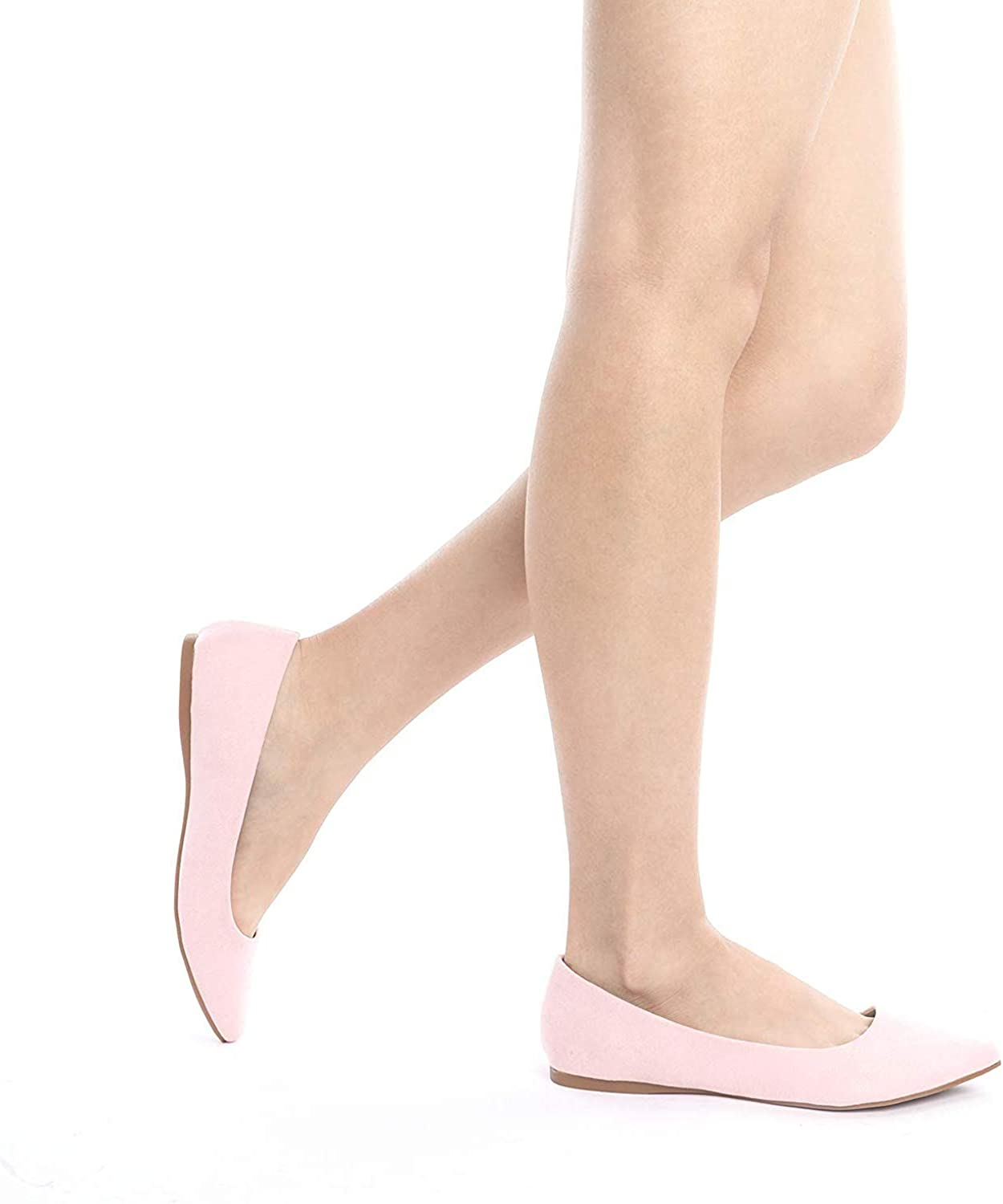 DREAM PAIRS Sole Classic Fancy Womens Casual Pointed Toe Ballet Comfort Soft Slip On Flats Shoes