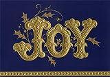 Hallmark Joy : Gold Foil Embossed Lettering on Deep Blue Box of 12 Christmas Cards