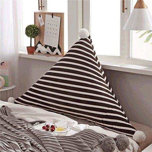 SHAOHUAYING Coussins de chevet triangulaire Soft Package Coussins Fluffy oreiller chaud Lit Retour Coussins Coussins de Noël Fournitures (Color : C, Taille : 120cm)