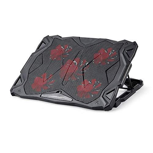XXCHUIJU Pista de enfriamiento portátiles y portátiles con 5 Ventiladores a 1500 y el Enfriador de Laptop LED Encaja con 12'-17'