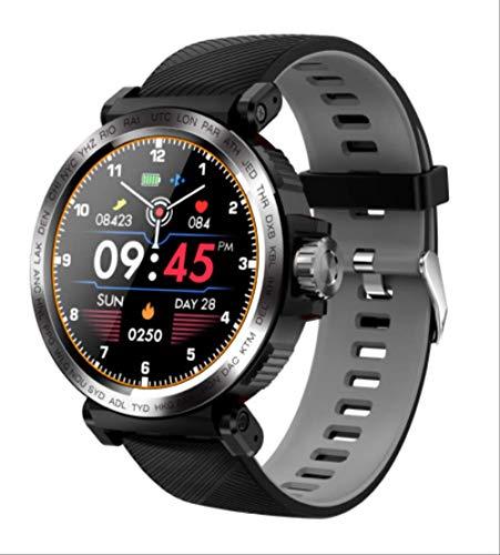 Sport Ip68 Impermeabile Smart Watch Full Touch Screen Uomo Orologio Cardiofrequenzimetro Smartwatch Bracciale Fitness Tracker Grigio