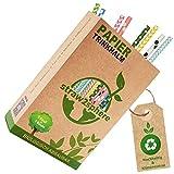 Straw2Sphere® Papierstrohhalme bunt | 160 Stück | 1 Baum