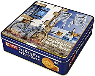 14 Oz Large Red Tin Traou Mad Galettes De Pont Aven Butter Cookies