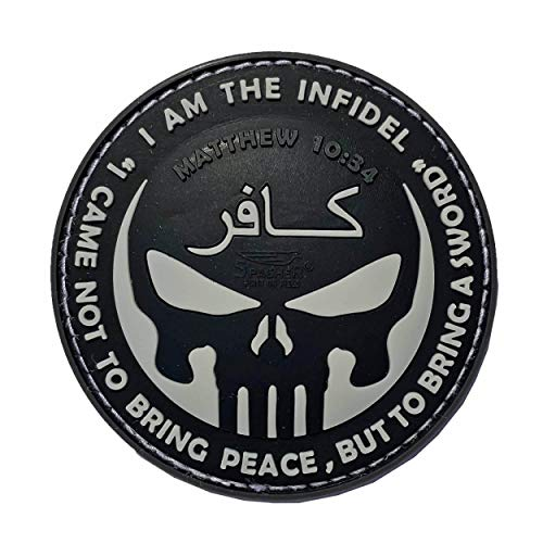 Jackets To Go JTG The Infidel Punisher Patch, swat / 3D Rubber Patch