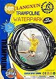 LANGXUN Trampolin Wasser Sprinkler Spiel für Kinder, Sommer im Freien Wasserspiel Spielzeug für...
