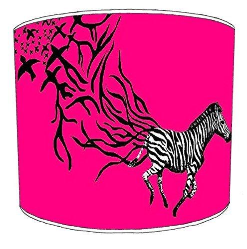 30cm zebra afdrukken lampekap9 Voor een tafellamp