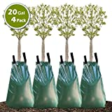 Remiawy Tree Watering Bag, 20 Gallon Slow Release Watering Bag for Trees, Tree Irrigation Bag Made of Durable PVC Material with Zipper (4 Pack 5-8 Hours Releasing Time)