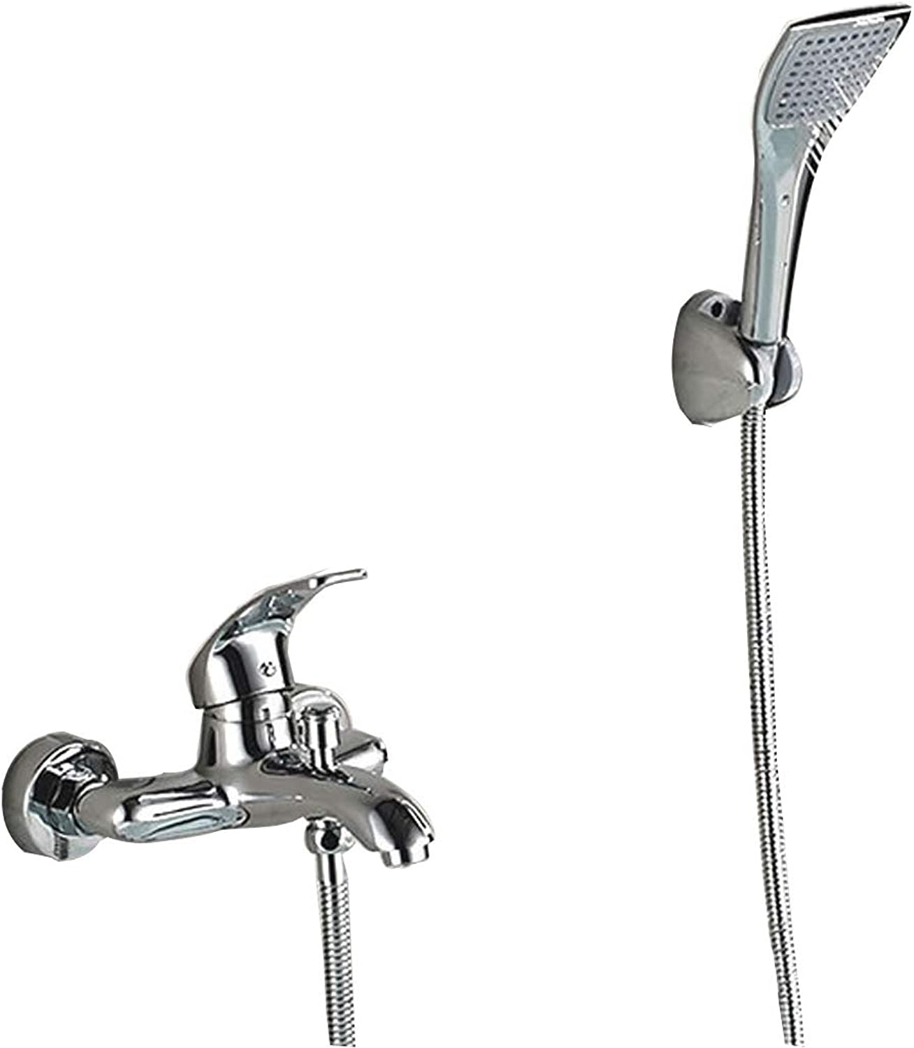 Tochange Simple Wall Mounted Shower Mixer Set In Bath Shower System With ABS Handheld Shower + Shower Tap,Bathroom Hardware Accessories