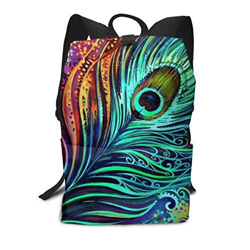 Homebe Mochila Unisex, Mochilas y Bolsas,Lovely Peacock Feathers Painting Printed Primary Junior High School Bag Bookbag