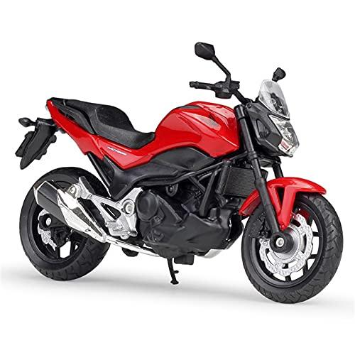 YBAO Motocicleta NC750S 1:18 Modelo de Motocicleta Juguetes, Modelo de decoración de Torta de aleación, Mini colección de niños Regalos,Rojo