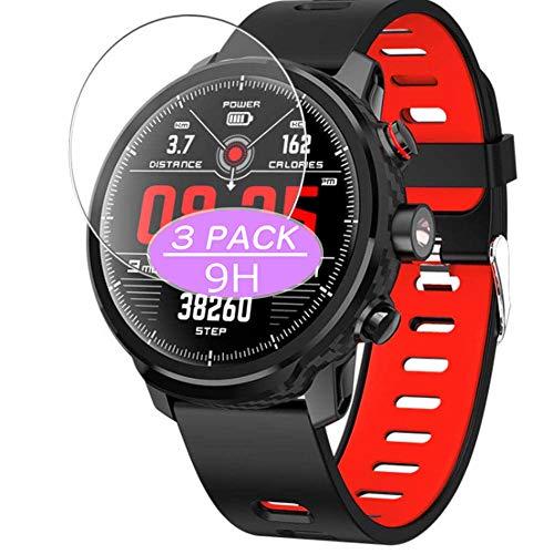 VacFun 3 Piezas Vidrio Templado Protector de Pantalla, compatible con Padgene L5 smartwatch Smart Watch, 9H Cristal Screen Protector Protectora Reloj Inteligente