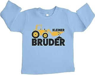 Shirtgeil Kleiner Bruder Bagger Traktor Unisex Baby Langarmshirt