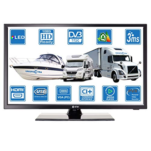 MOTORHOME CARAVAN BOAT 12V 22' Inch FHD LED Digital Freeview & Freesat TV 12 Volt USB PVR by...