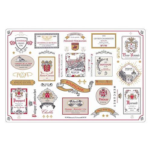 Winkler - Set de table rectangle Bourgogne – 80x180 cm – Facile à nettoyer – Style moderne et tendance