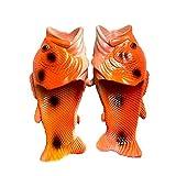 Kirin-1 Flipazoo - Sandalias creativas antipatinaje para niño (46/47), color rojo y naranja