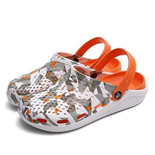 AYDQC 2020 Sandalias de Hombre de Verano Nuevas Sandalias EVA Ligero Playa Zapatillas Antideslizantes Mule Menas Mujeres Jardín Zapatos Casual Flip (Size : 43)