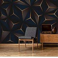 写真の壁紙3D立体空間カスタム大規模な壁紙の壁紙 ゴールデンラインリビングルーム現代リビングルームのテレビの背景寝室家の装飾壁画 -450X300cm(177 * 118インチ)