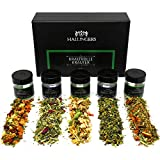 Hallingers 5er Tee-Geschenk-Set Kräutertee (40g) - Kraftvolle Kräuter (MiniDeluxe-Box) - zu Muttertag & Vatertag