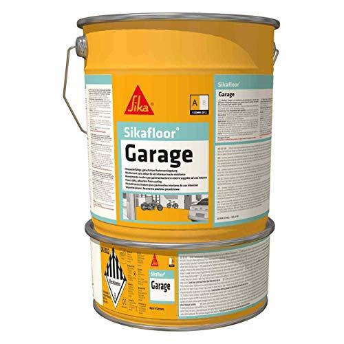 Sikafloor - Resina epoxi para garaje, pintura de suelo interior especial para garaje, 6 kg, color gris sílex (cercana RAL 7032)