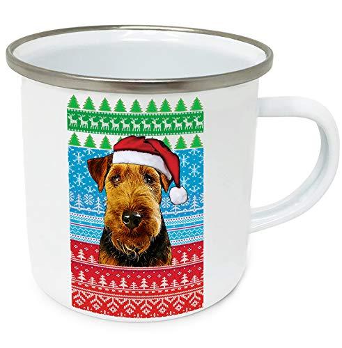 teesquare1st Christmas Welsh Terrier p 10oz Tazza da Caffe Natalizia/Tazza di Natale