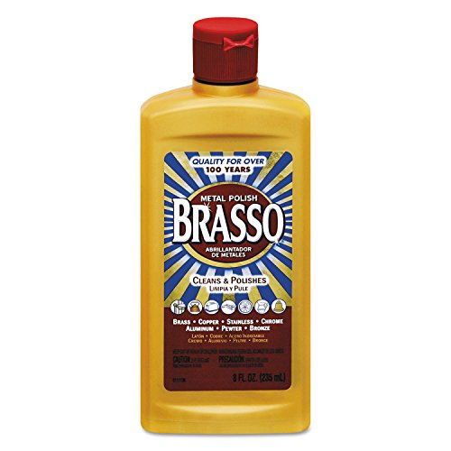 Brasso Metal Polish, 8 oz Bottle for Brass, Copper, Stainless, Chrome, Aluminum, Pewter & Bronze (Pack of 8)