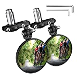 Best Bicycle Mirrors - PACEARTH Bar End Bike Mirror Blast-Resistant Aluminum 360˚Rotatable Review